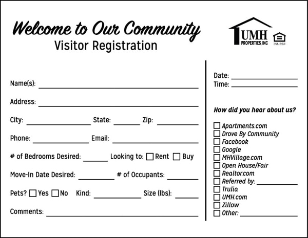 Picture of Registration Notepad