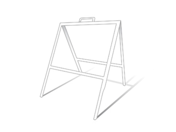 """Picture of 18"""" x 24"""" Slide-In Tent Frame (White)"""