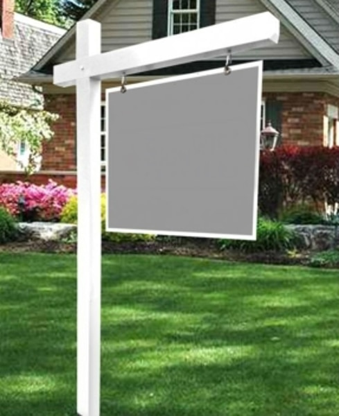 Picture of White Vinyl Sign Post