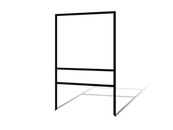 """Picture of 24""""h x 24""""w Metal Frame - 1 rider (Black)"""