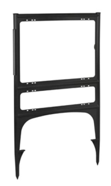 """Picture of 18""""h x 24""""w Plastic Frame - 1 rider (Black)"""